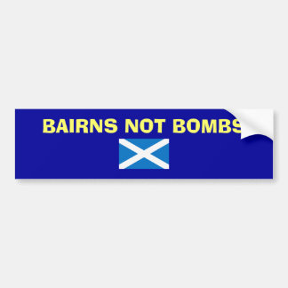Pegatina escocés de la independencia de las bombas etiqueta de parachoque