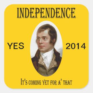 Pegatina escocés de la independencia de Robert Bur