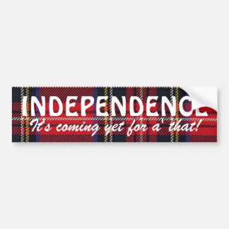 Pegatina escocés de la independencia del tartán de pegatina de parachoque
