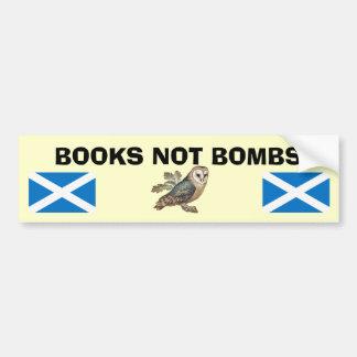 Pegatina escocés del búho de la independencia de l pegatina de parachoque