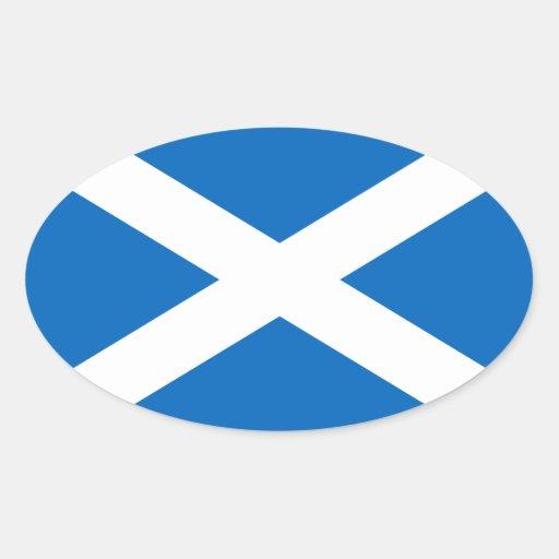 Pegatina escocés del óvalo de la bandera