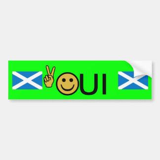 Pegatina escocés sonriente de la independencia de