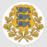 Pegatina - escudo estonio/Eesti Vapp