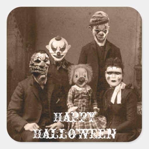 Pegatina espeluznante de Halloween de la familia