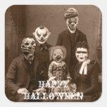 Pegatina espeluznante de Halloween de la familia d