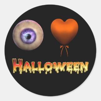 Pegatina espeluznante de Halloween del amor del KR