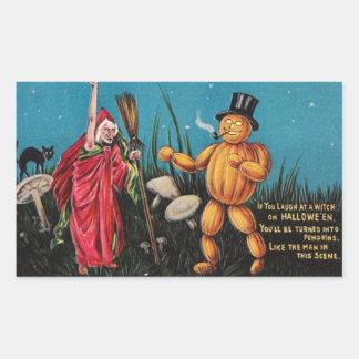 Pegatina espeluznante de Halloween del vintage