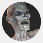 Pegatina espeluznante de Halloween del zombi del