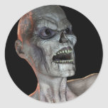 Pegatina espeluznante de Halloween del zombi del K