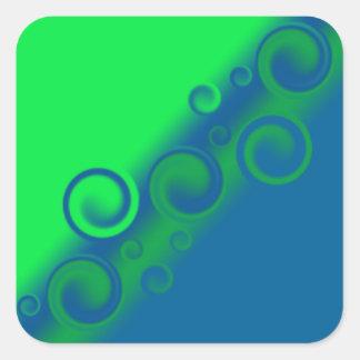 pegatina espiral azul