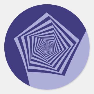 Pegatina espiral de los azules de Pentágono