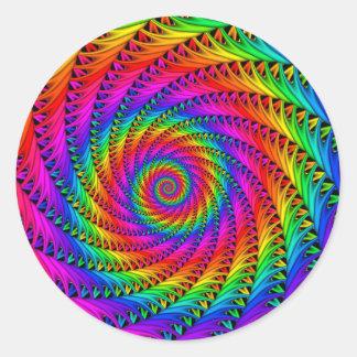 Pegatina espiral del arco iris