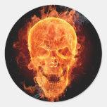 Pegatina esquelético ardiente