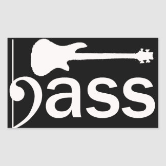 Pegatina estilizado de la guitarra baja