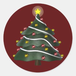 pegatina Estrella-rematado del árbol de navidad