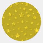 Pegatina estrellado del oro