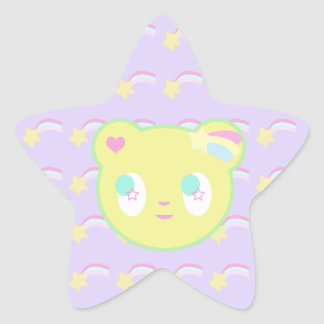 Pegatina estrellado del oso