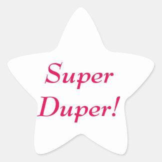 Pegatina estupendo de la estrella de Duper