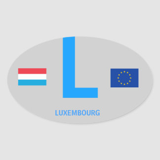Pegatina Euro-Oval de Luxembourg*