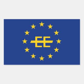 Pegatina europeo de la bandera del imperio