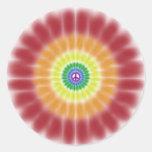 Pegatina, explosión del signo de la paz del arco