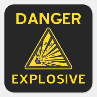 Pegatina explosivo de la señal de peligro