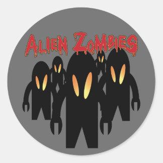 Pegatina extranjero de los zombis