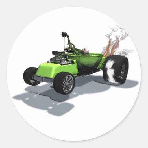 Pegatina extraño del móvil de la cosa de las rueda