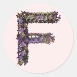 Pegatina F de la flor