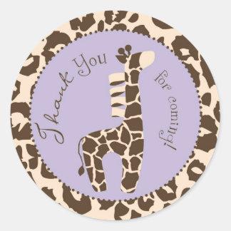 Pegatina F del servicio del chica del safari