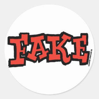 Pegatina falso