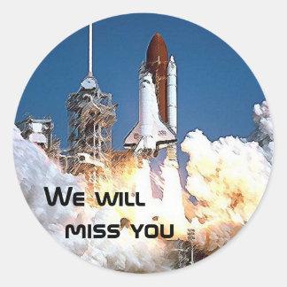 Pegatina - faltaremos el transbordador espacial 2