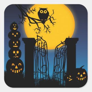 Pegatina fantasmagórico de Halloween 4