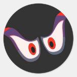 pegatina fantasmagórico de Halloween de los ojos