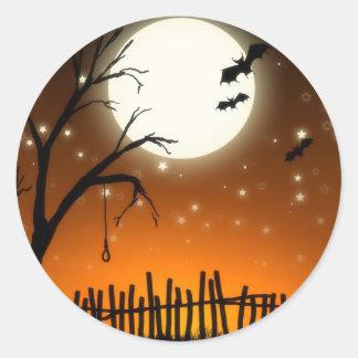 Pegatina fantasmagórico de las siluetas de Hallowe