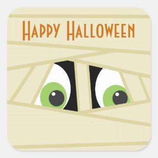 Pegatina fantasmagórico del fiesta de Halloween de