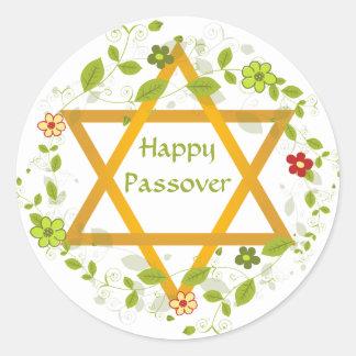 Pegatina feliz de Magen David del Passover