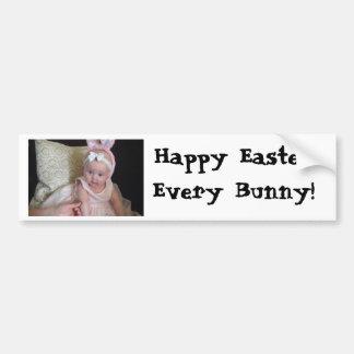 Pegatina feliz de Pascua Etiqueta De Parachoque