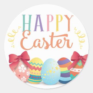 Pegatina feliz de Pascua, etiquetas del favor de