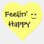 Pegatina feliz del corazón de la sonrisa de Feelin