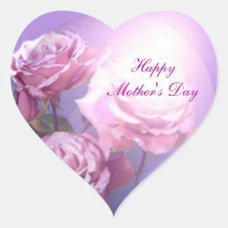 Pegatina feliz del corazón del día de madre