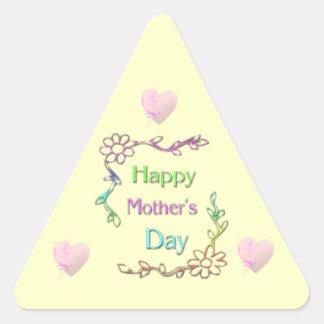 Pegatina feliz del día de madre