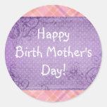 Pegatina feliz del día de madre de nacimiento