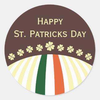 Pegatina feliz del día del St Patricks