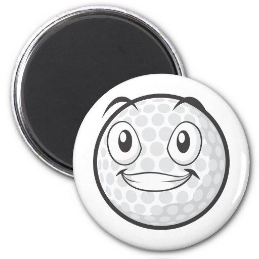 Pegatina feliz del dibujo animado de la pelota de  imán redondo 5 cm