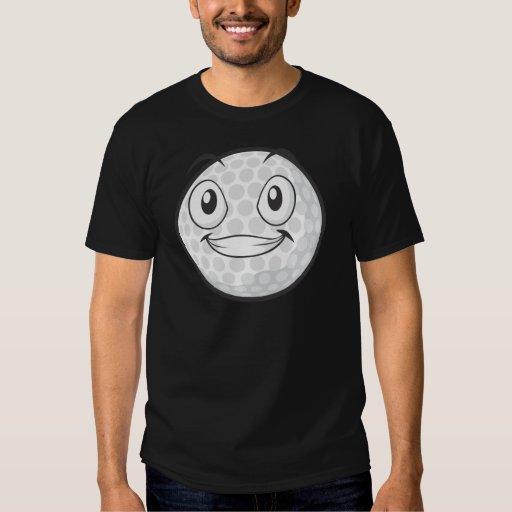 Pegatina feliz del dibujo animado de la pelota de playera