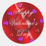 Pegatina feliz del el día de San Valentín