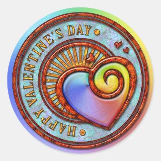 Pegatina feliz del el día de San Valentín 2A