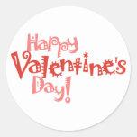 Pegatina feliz del el día de San Valentín de la