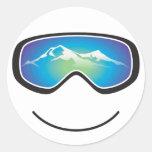Pegatina feliz del esquiador/del Snowboarder